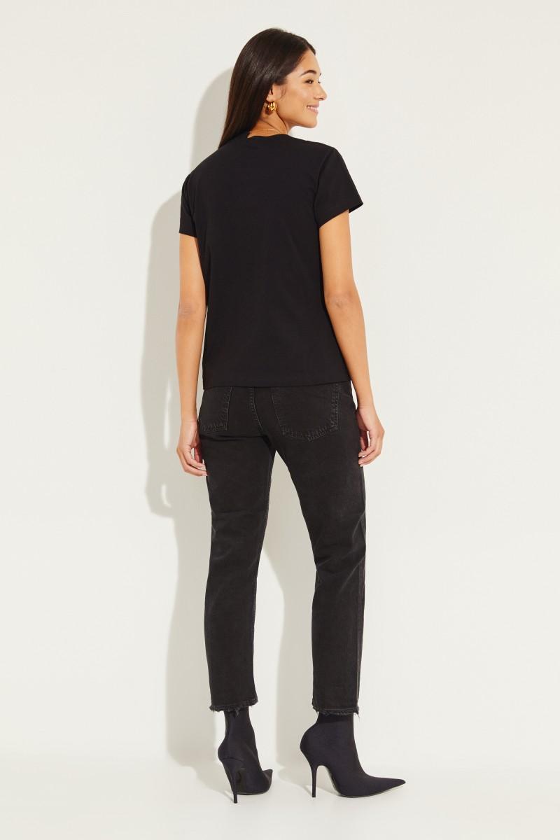 T-Shirt mit Kettendetail Schwarz/Multi