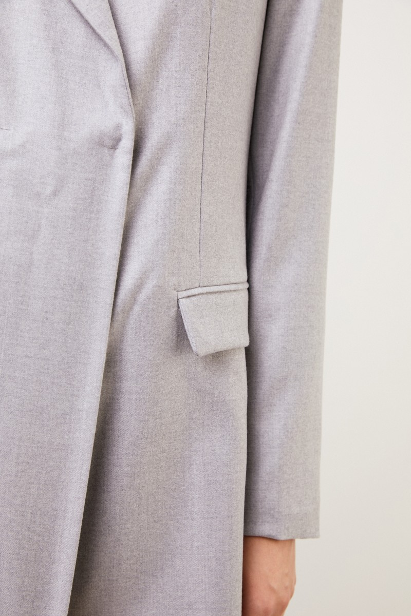 Fabiana Filippi Klassischer Woll-Blazer Grau Melange