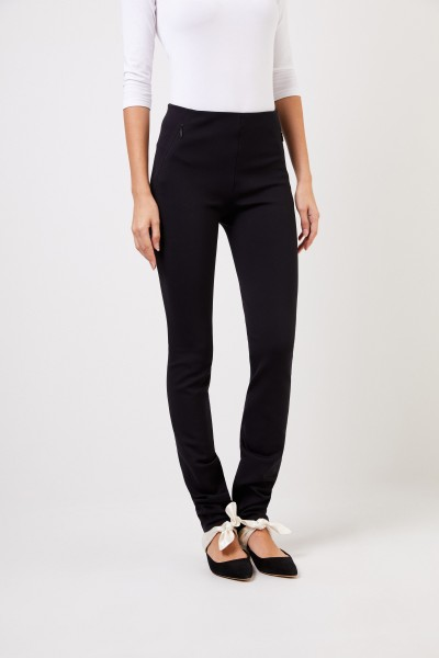 The Row Elastic trousers 'Corza' with zip Detail Black