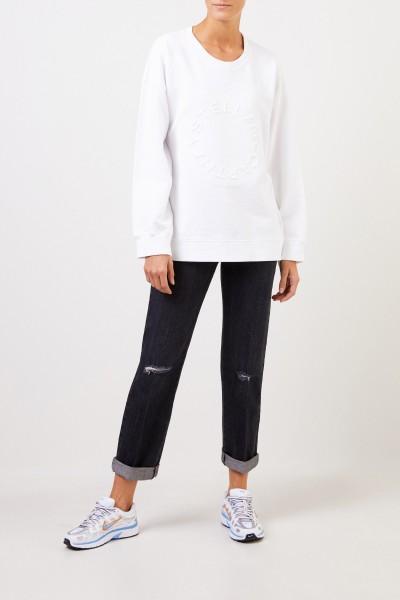 Stella McCartney Sweatshirt mit Logo-Schriftzug Weiß