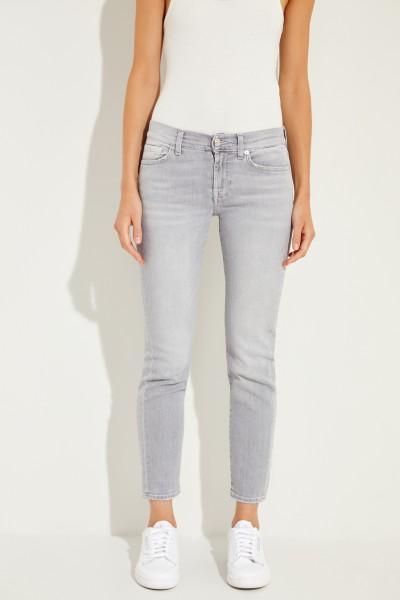 Mid-Rise-Jeans 'Roxanne' Grau