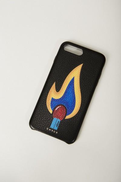 Iphone Case 7/8+ mit rückseitigem Logodruck Schwarz