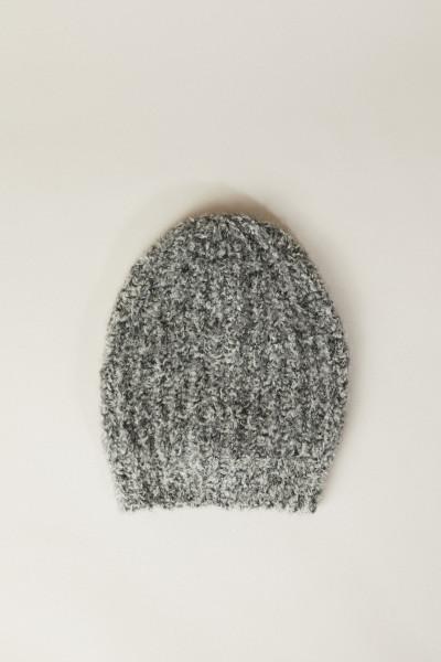 Woll-Mütze Grau