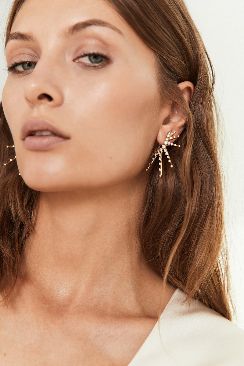 Ohrstecker 'Radiant Earrings' mit Diamanten Gelbgold