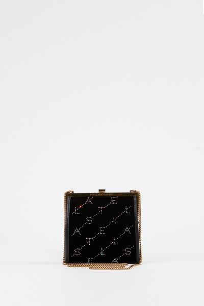 Stella McCartney Samt-Tasche 'Mini Frame Bag' Schwarz