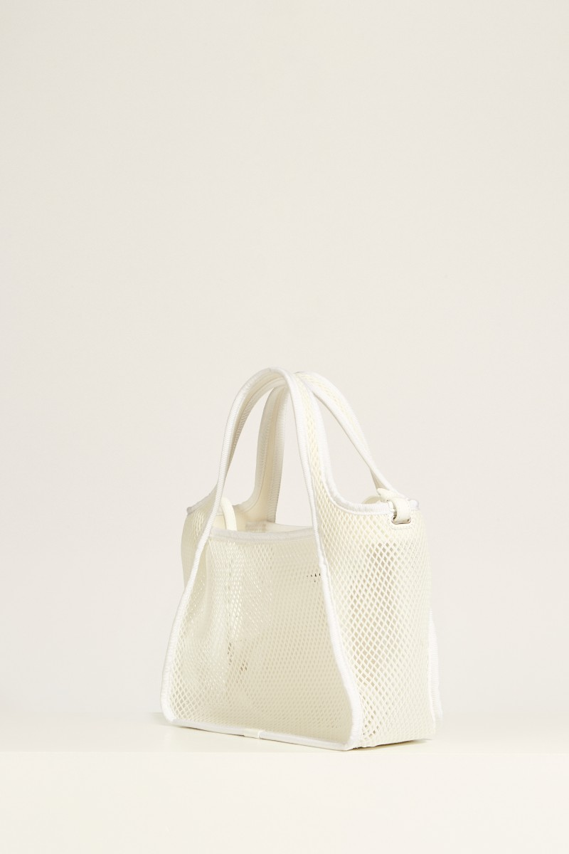 Tasche aus Mesh 'Cross Body Bag' Weiß