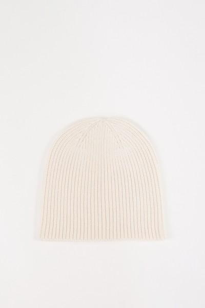 UZWEI Woll-Cashmere-Mütze Weiß