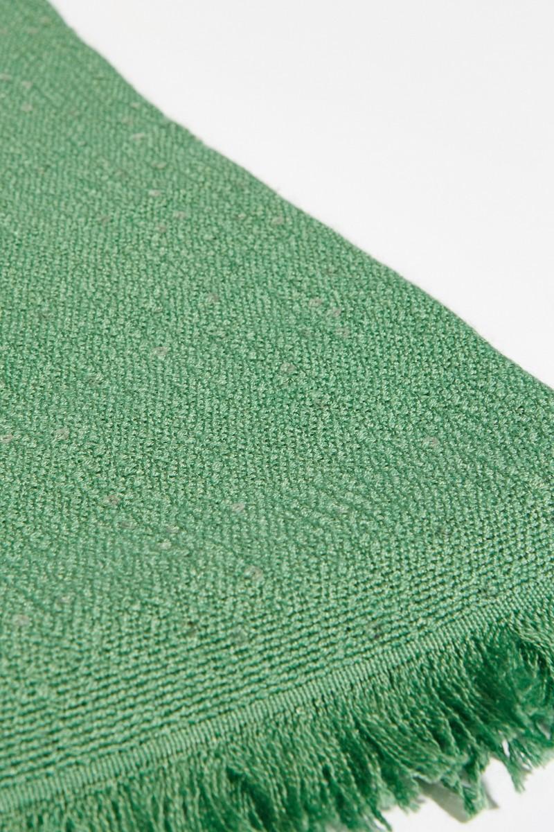 Cashmere-Seiden-Schal mit Paillettenverzierung Grün