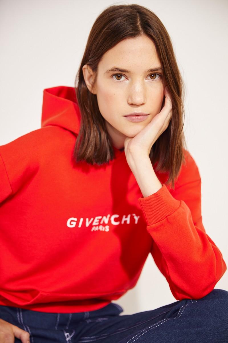 Sweatshirt mit Kapuze Rot