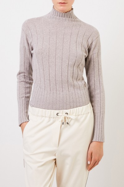 Colombo Cashmere pullover with turtleneck Grey