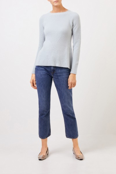 Uzwei Cashmere pullover with knit detail Sea Green