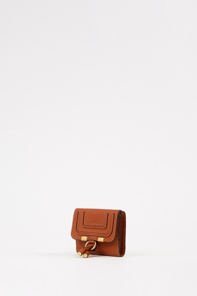 Chloé Leather wallett 'Marcie' Tan