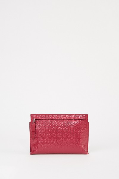 Loewe Clutch 'Pouch Repeat' with logo Bordeaux