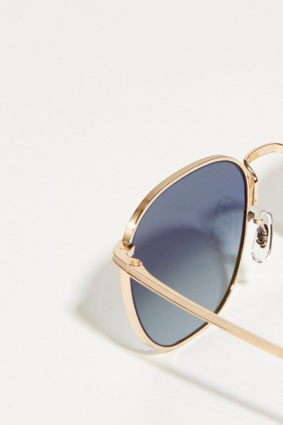 Oliver Peoples Sonnenbrille 'The Row' Silber/Blau