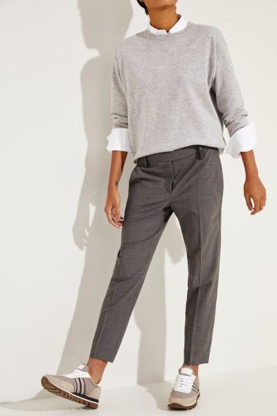 Woll-Hose mit Perlenverzierung Grau