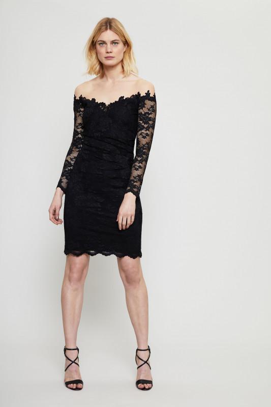 Kurzes Lace-Kleid Schwarz