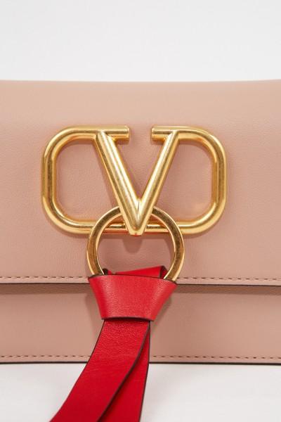 Valentino Pochette VRING mit Kettenriemen Rosé