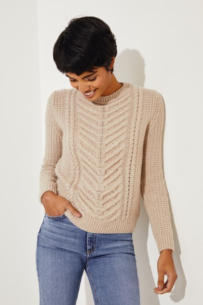 Cashmere-Pullover 'Beverly' Puder