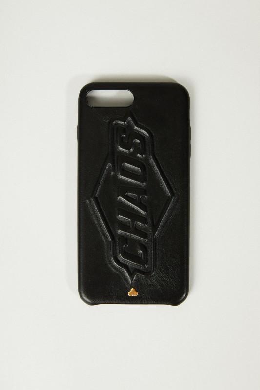 Iphone 7/8+ Case mit Logo-Schriftzug Schwarz