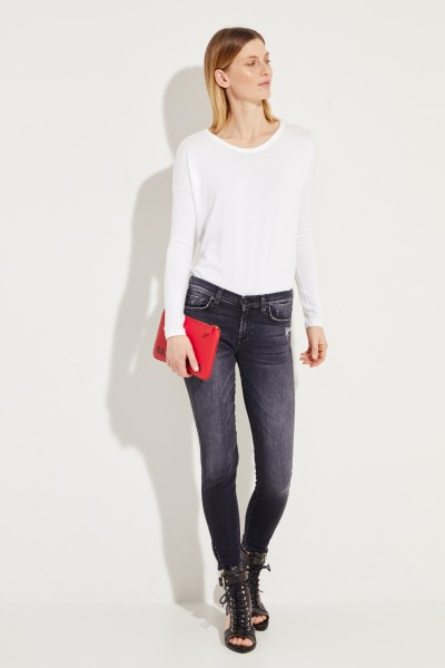 Skinny Jeans 'The Skinny Crop' Anthrazit