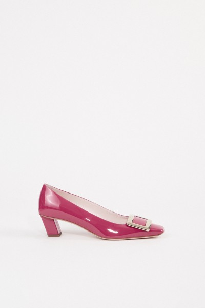 Roger Vivier Lackleder-Pump 'Decollette Belle Vivier' Pink