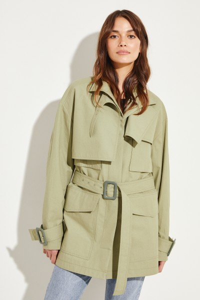 Kurzer Trench 'Warrick' Khaki