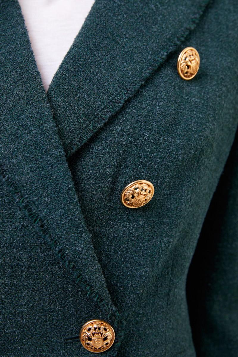 Blazer mit Logo-Knöpfen Grün