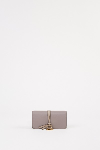 Chloé Leather wallet' Alphabet' Grey