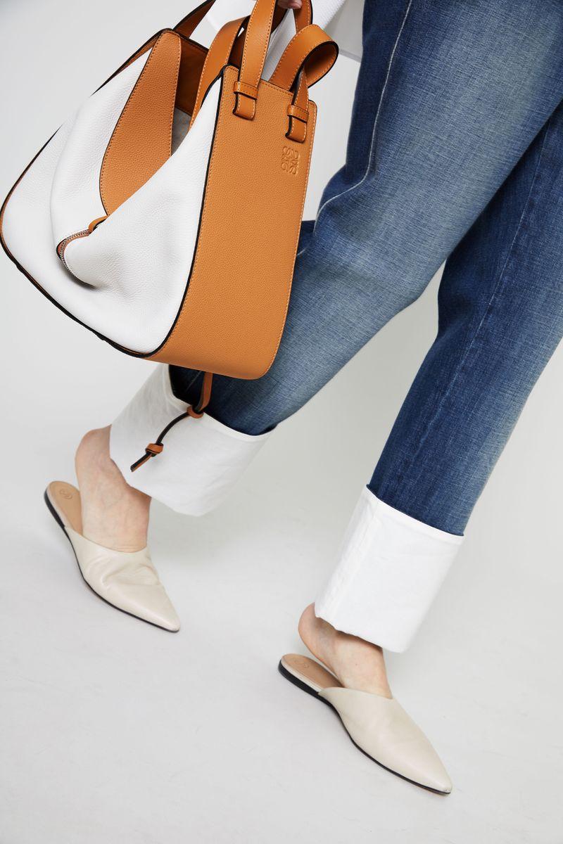 Shopper 'Hammock Bag Medium' Weiß/Braun