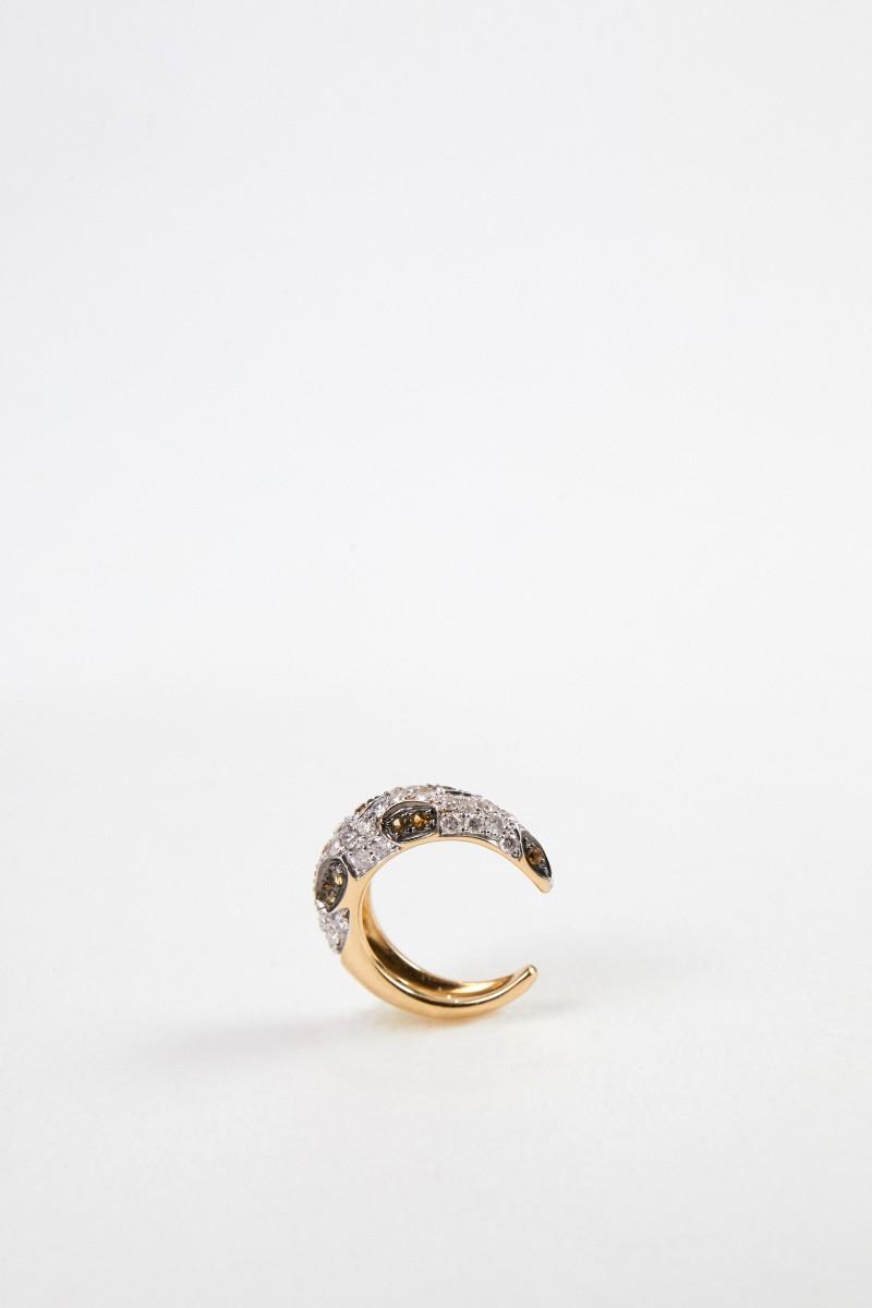 Yvonne Leon Earcuff 'Clip Leopard Dia' mit Diamanten Gold