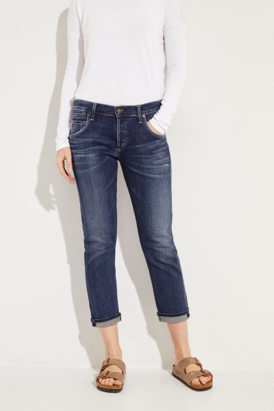 Schmale Boyfriend-Jeans 'Emmerson' Blau