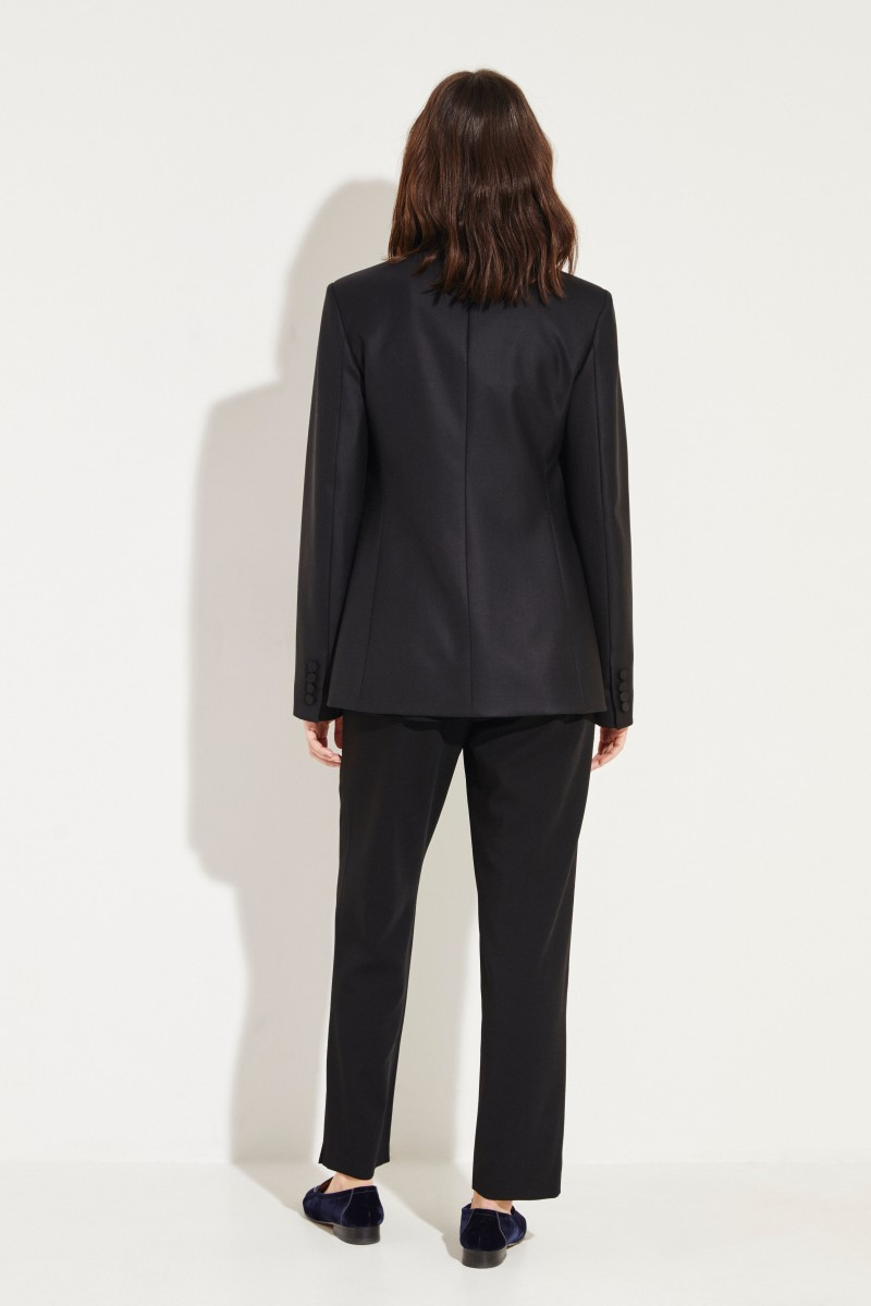 Wollblazer 'Mathis Jacket' Schwarz