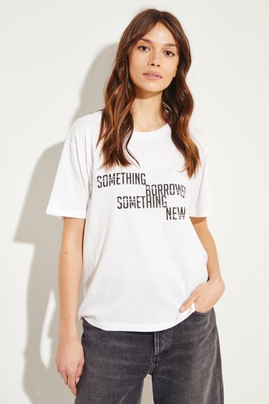 T-Shirt mit Logo-Detail Weiß