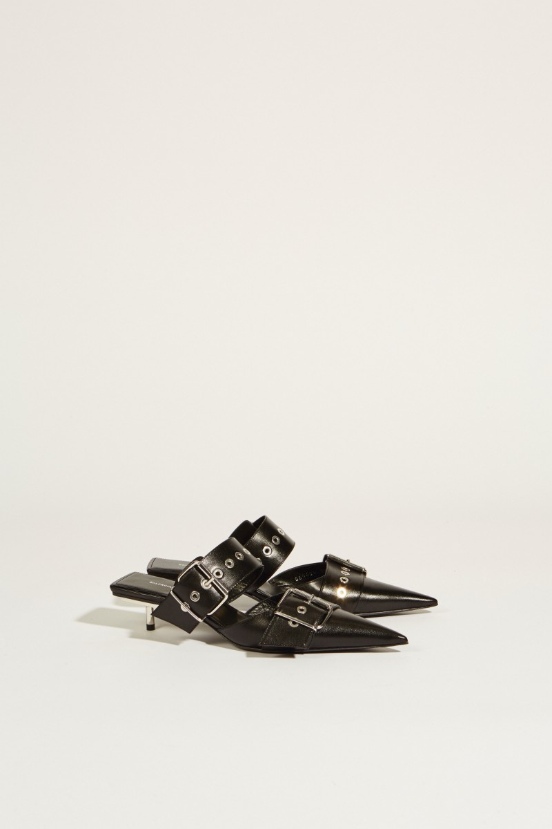 bd3925e2b148e Leather mule with buckles Black | Shoes | Sale | Selection | unger ...