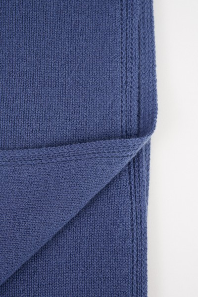 Colombo Classic Cashmere Scarf Blue