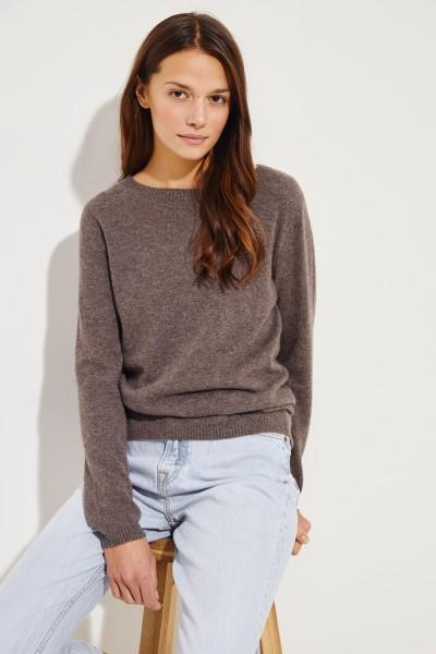 Klassischer  Cashmere-Pullover Braun