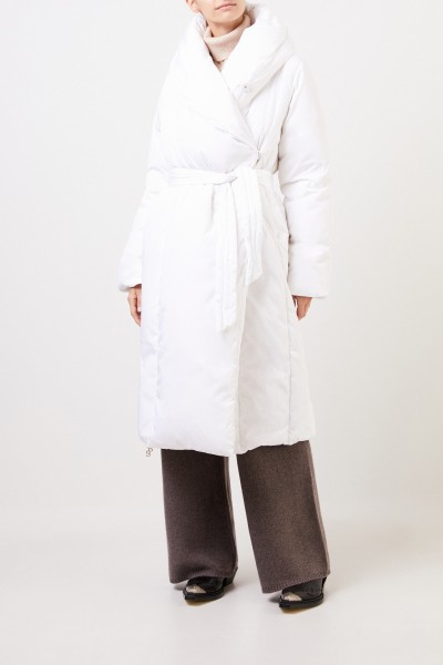 Saks Potts Long down coat 'Sauna' White