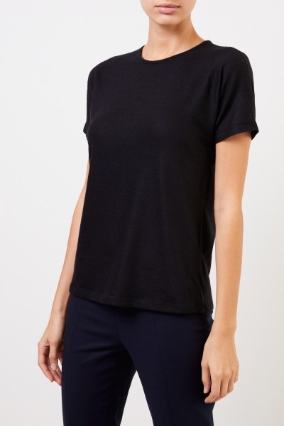 The Row Kurzarm-Cashmere-Shirt 'Landas' Schwarz