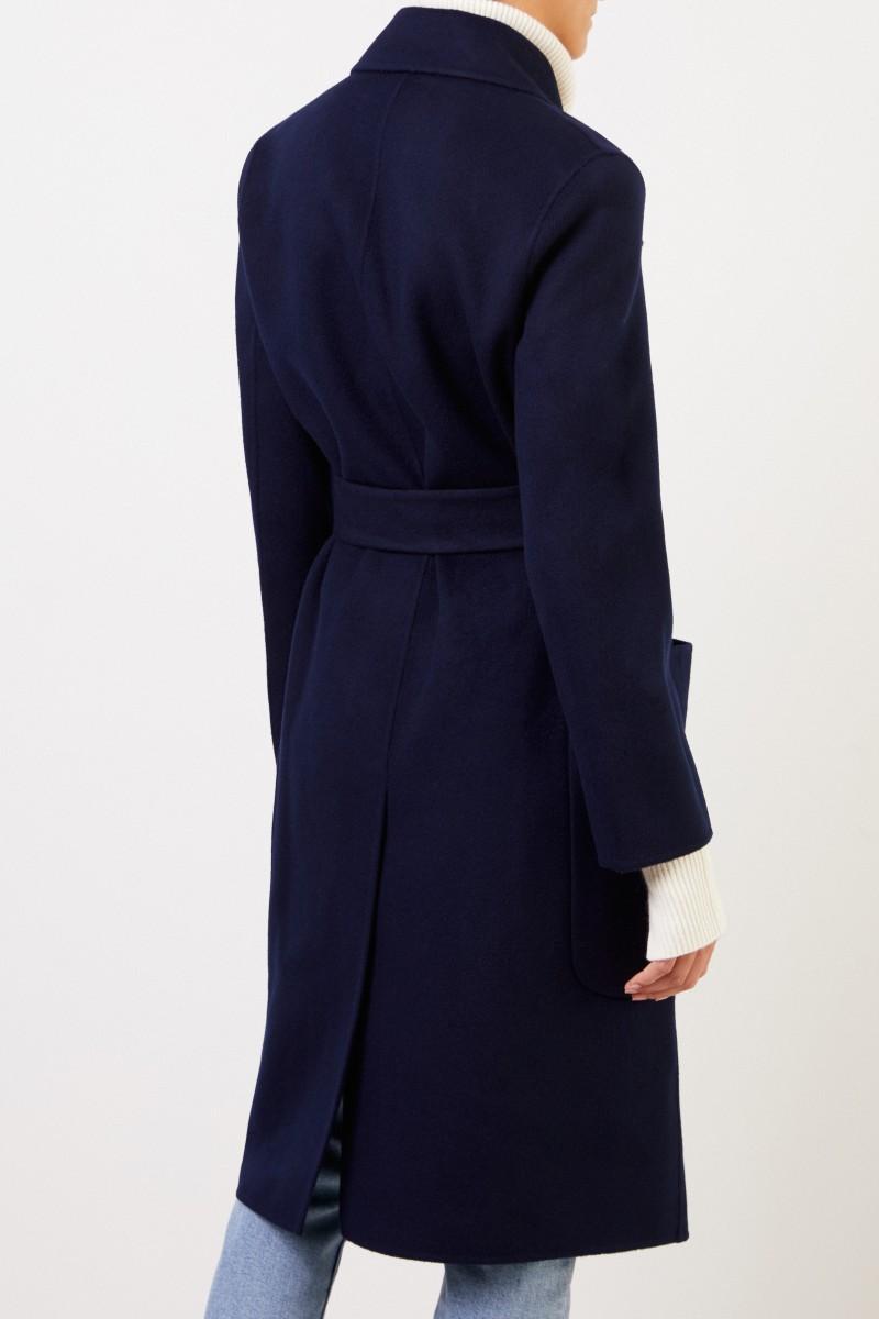 Acne Studios Woll-Cashmere-Mantel 'Carice' mit Gürtel Marineblau