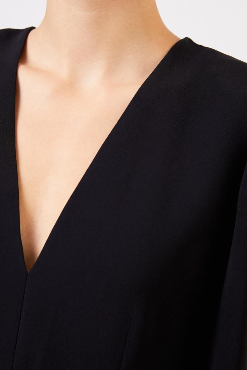 Stella McCartney Blouse with v-neck Black