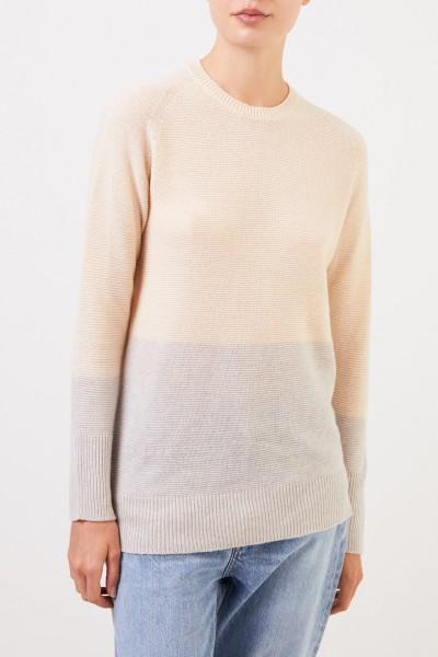 Fabiana Filippi Two tone cashmere sweater Beige/Grey