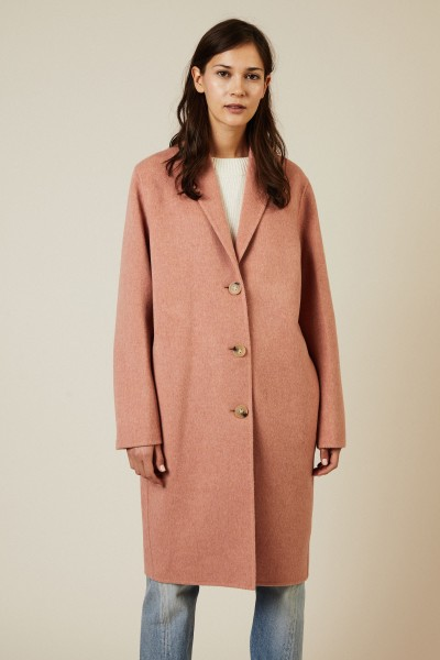 Woll-Cashmere-Mantel 'Avalon' Pink Melange