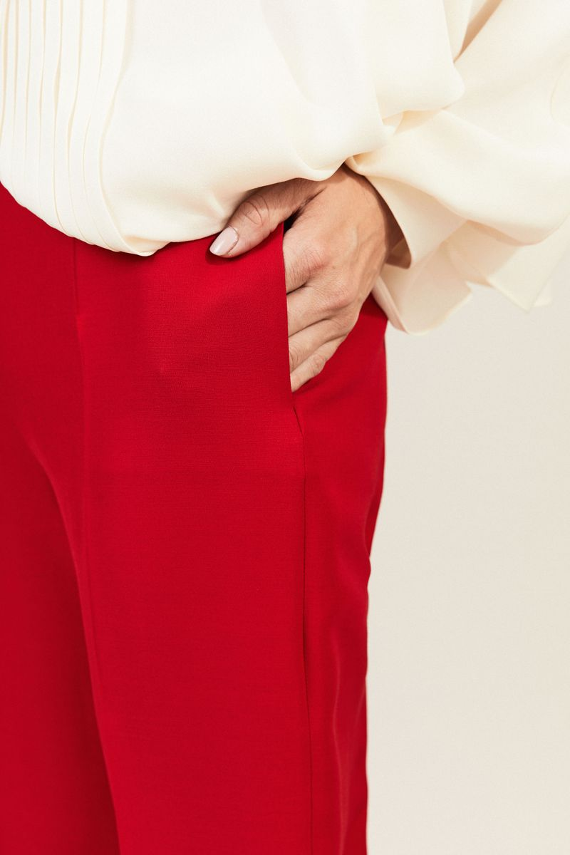 Woll-Seiden-Hose Rot