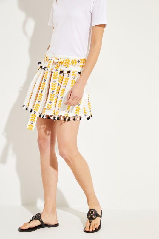 f774f28570 Mini skirt 'Ariana' with embroidery White/Multi | Mini skirts | Skirts |  Clothing | unger-fashion.com