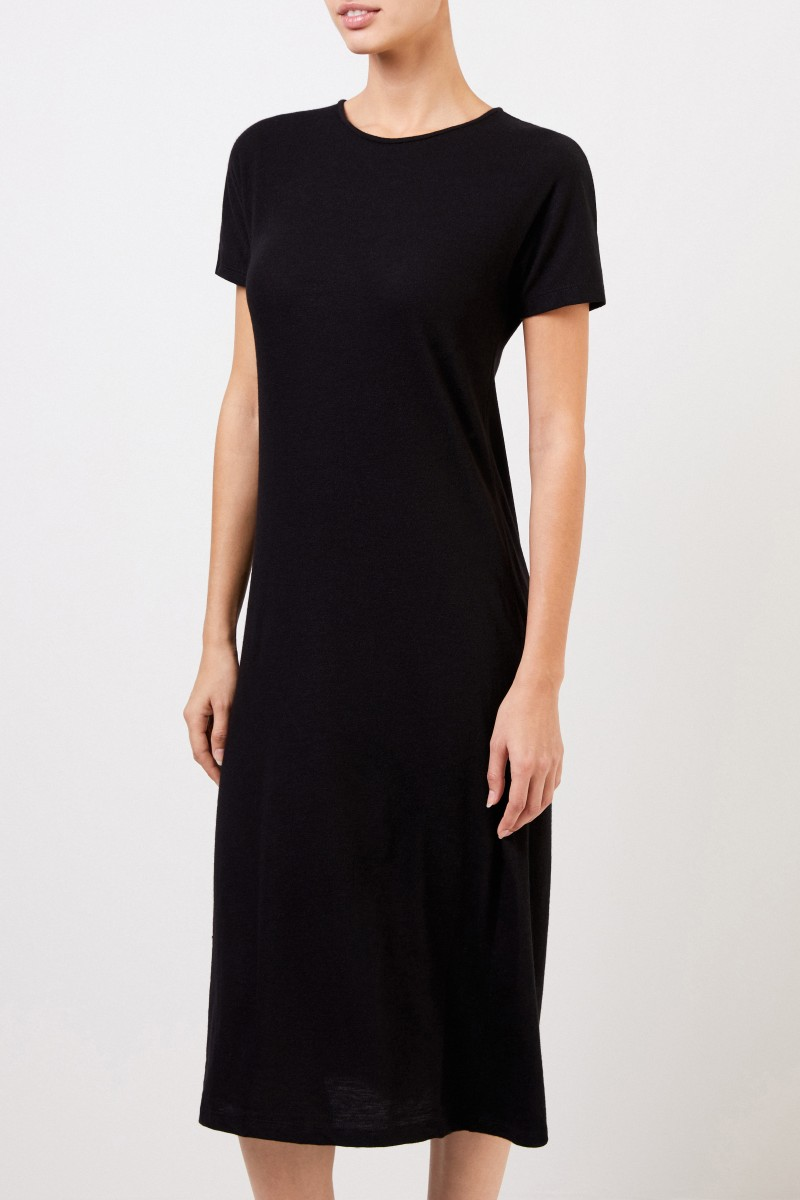 The Row Cashmere-Strickkleid 'Padma' Schwarz