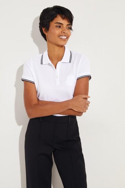 Polo-Short mit Logo Weiß