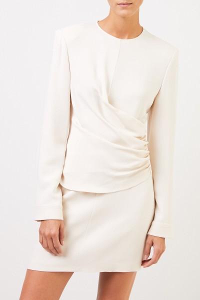 Stella McCartney Kleid mit Raffung Crème