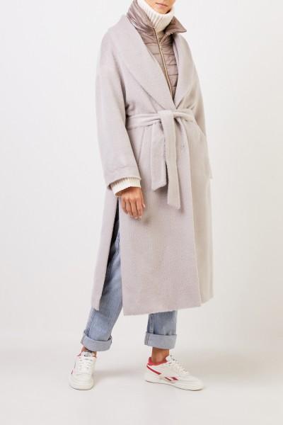 Herno Alpaca-Woll-Mantel mit Dauneneinsatz Beige