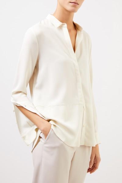 Iris von Arnim Silk blouse 'Mabelle' Ecru