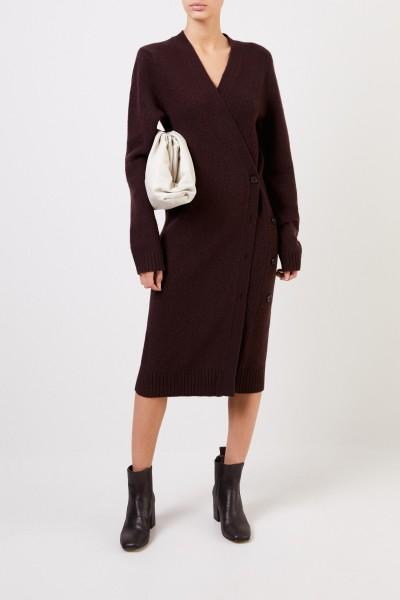 Bottega Veneta Long wool cardigan Dark Brown